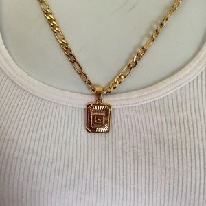 "Other - New 18k gold "" G "" necklace"